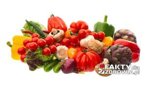 raw food ingredients. fresh vegetables
