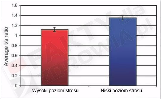 telomery a wysoki i niski poziom stresu
